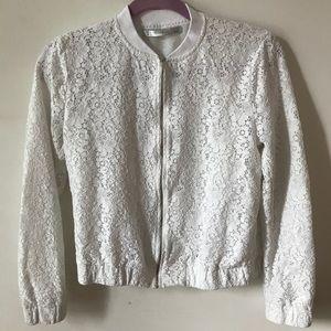 White Zara Jacket Trafaluc Collection S